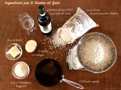 Ingredienti per la ricetta del Risotto al Gavi
