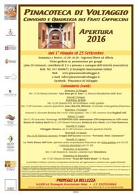 Apri il calendario degli eventi n programma alla Pinacoteca dei Padri Cappuccini di Voltaggio