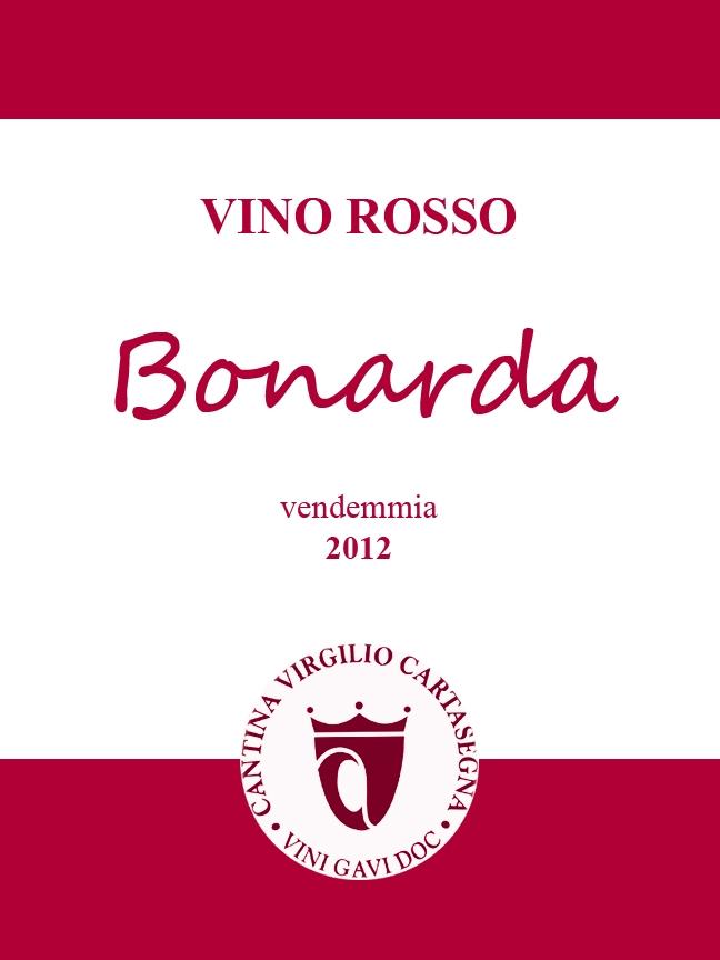 Etichetta bottiglie- Vino sfuso Bonarda