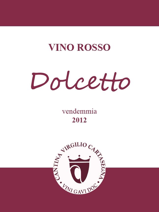 Etichetta per bottiglie - Vino sfuso Dolcetto