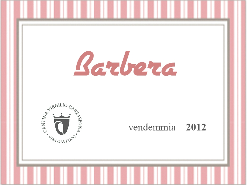 Etichetta bottiglie - Vino sfuso rosso Barbera