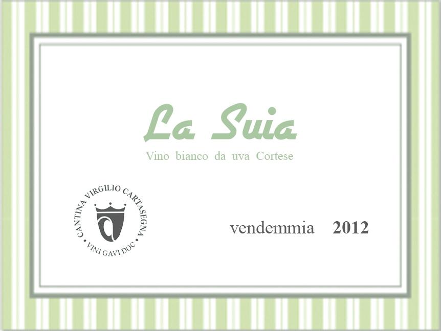 Etichetta bottiglia - Vino sfuso bianco Cortese
