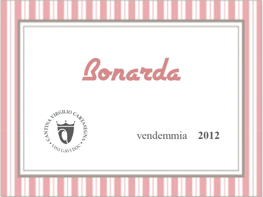 Etichetta Bottiglie - Vino rosso Bonarda