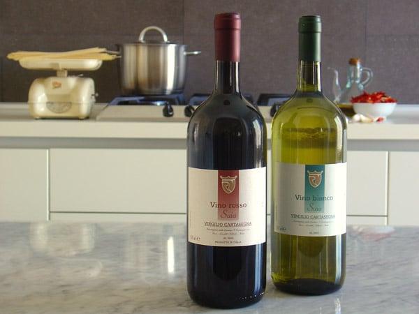 Vini da tavola rossi e vini da tavola bianchi