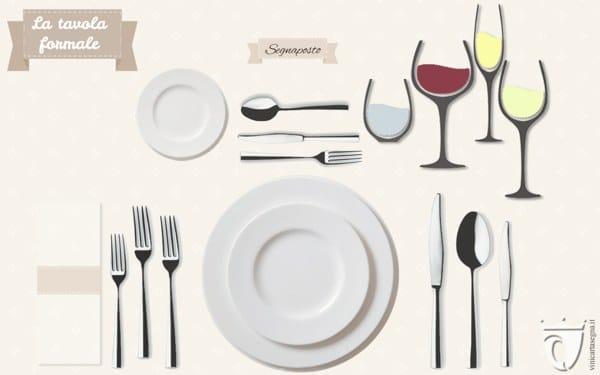 Come apparecchiare la tavola mise en place formale e non - Disposizione bicchieri in tavola ...