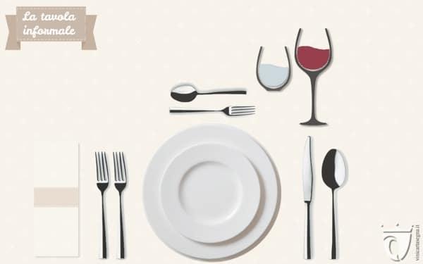 Come apparecchiare tavola: la mise en place informale