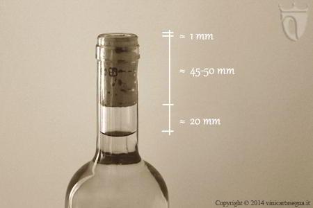 Corretto inserimento del tappo di sughero nella bottiglia di vino