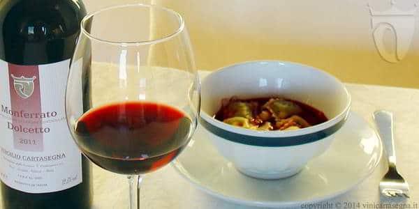 I ravioli di Gavi nel vino (Monferrato Dolcetto DOC)