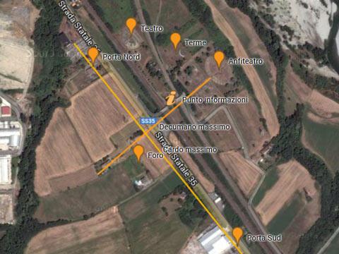 Mappa dell'area archeologica di Libarna