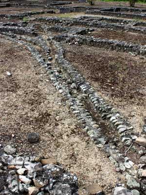 Il sistema di canalette per le acque che correva sotto i pavimenti dell abitazioni