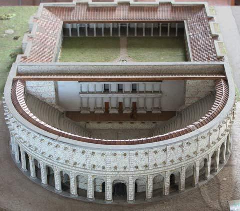 Maquette del teatro romano di Libarna