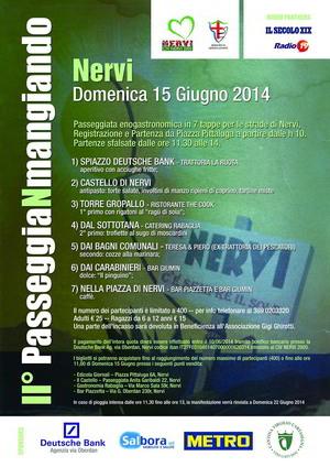 Passeggiata enogastronomica a Nervi (Genova) - Passeggianmangiando 2014