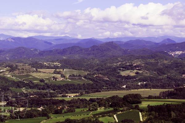 Santuario di NS della Guardia si Gavi: Panorama della Val Lemme