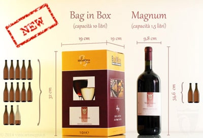 vino in bag in box