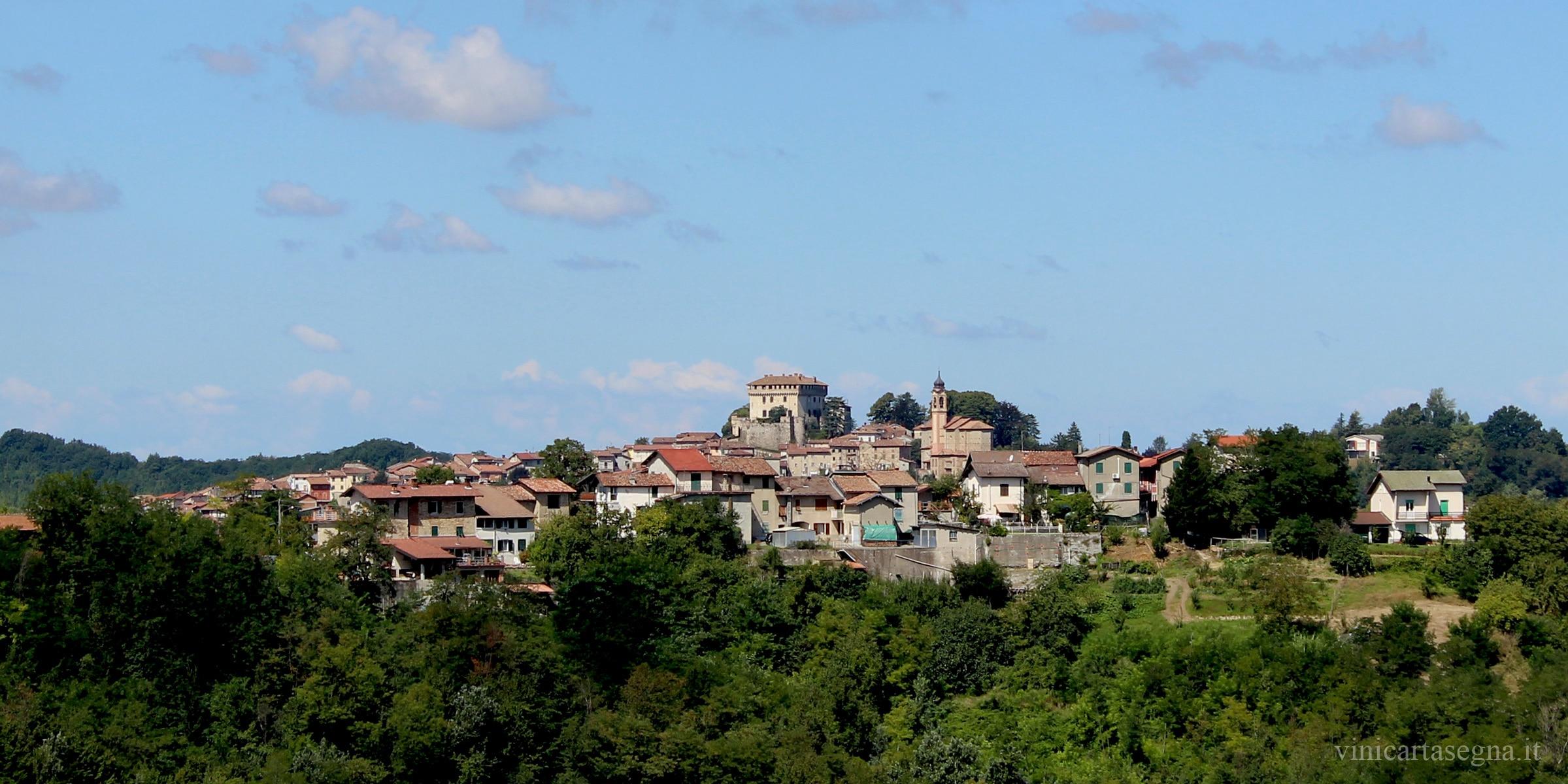 Il castello di Montaldeo visto da Parodi