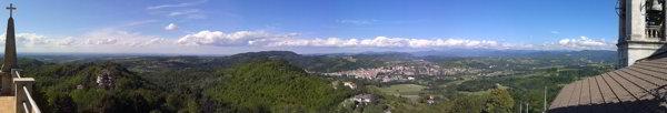 Panorama dal Santuario di NS Signora della Guardia a Gavi