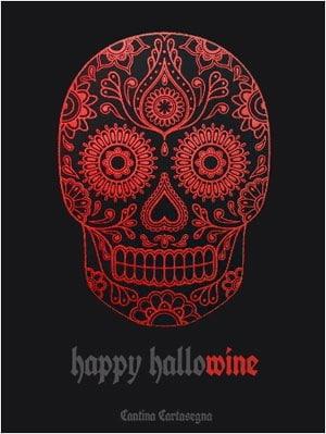 Etichette vino scaricabili Halloween - Total Black