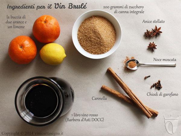 Gelatina di vino - Vin Brule ingredienti