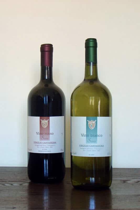 Vendita vino da tavola rosso e bianco